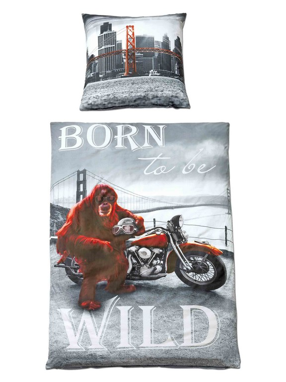 Bettwsche Born To Be Wild Bt 135x200 Cm In Bunt Baumwolle Und intended for sizing 2250 X 3000