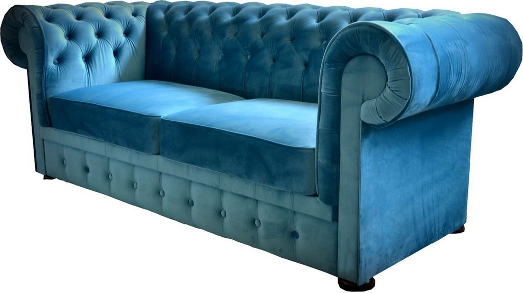 Casa Padrino Chesterfield 2er Sofa In Blau 160 X 90 X H 78 Cm within dimensions 1200 X 672