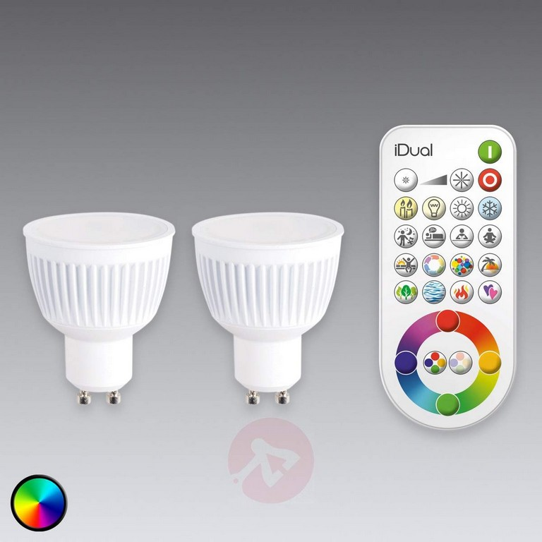 Gu10 Idual Led Lampe 2er Mit Fernbedienung Kaufen Lampenweltch pertaining to size 1200 X 1200