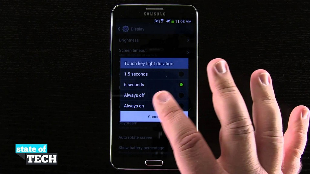 Samsung Galaxy Note 3 Tips Change The Touch Key Light Duration pertaining to measurements 1920 X 1080