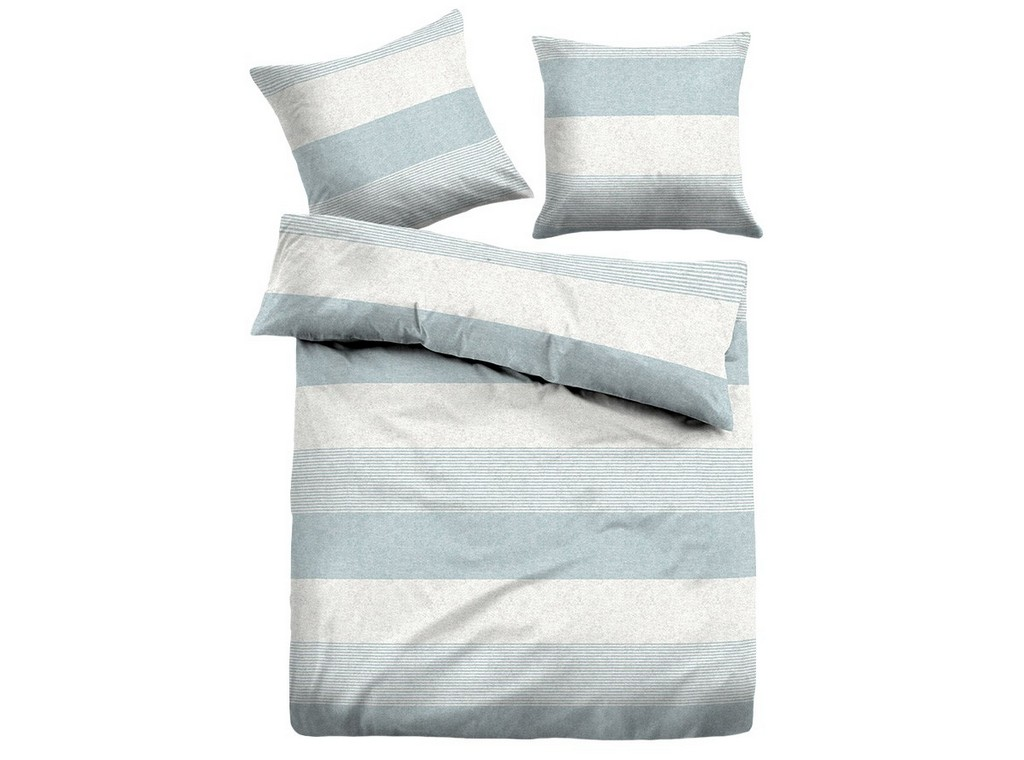 Tom Tailor Melange Flanell Bettwsche Stripes Blue Bettenriese inside sizing 1200 X 891