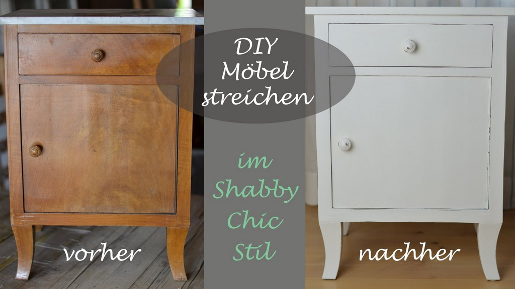 Diy Shab Chic Stil Altes Schrnkchen Mit Weier Kreidefarbe with measurements 1920 X 1080