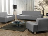 Asilla Set 3 2 1 Sofa Couch Webstoff Grau Emoebel24 regarding sizing 1440 X 800