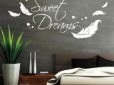 Beste Inspiration Wandtattoo Sweet Dreams Und Schne Mit Federn for proportions 1024 X 1024