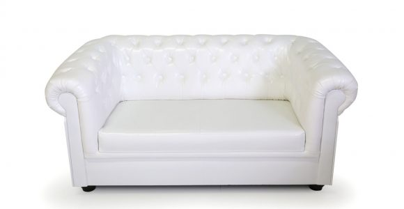 Chesterfield 2 Sitzer Sofa Kunstleder Wei for measurements 1200 X 900