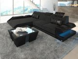 Ecksofa Apollonia Als L Form In Stoff Mit Led Licht Designersofa pertaining to size 1231 X 800