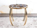 Massive Naturmobel Organic Modern Side Table Model Arco Agate Rubane inside dimensions 2638 X 1998