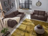 Sam 2tlg Polstergarnitur Sofa Stoff Braun Aviano 3 2 with regard to size 1500 X 1003