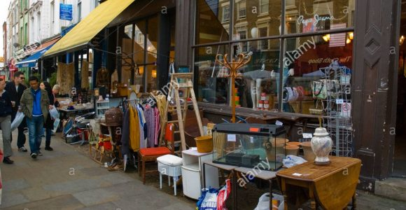 Second Hand Mbel Laden Portobello Road Market London England Uk within dimensions 1300 X 959