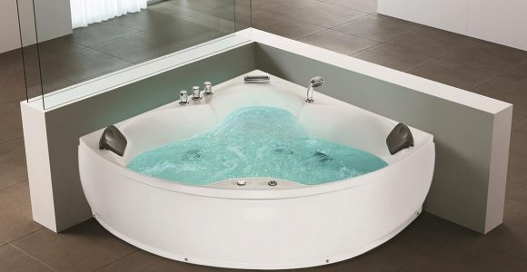 Whirlpool Badewanne Monaco Eckbadewanne Mit 12 Massage Dsen throughout size 1124 X 752
