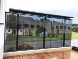 Windschutz Fr Terrasse Transparent Mit Glasschiebetren throughout size 2000 X 1500